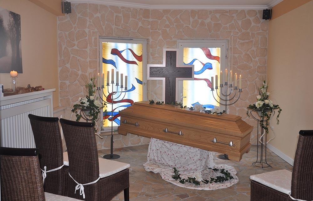 Trauerraum Berens Bestattungen in Elsen Paderborn